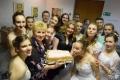 директор музея Антонина Степанова, Ирина Теребильник и ее воспитанники ... и торт